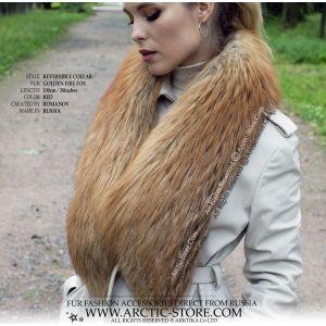 Men's fur collar 80cm - coonskin boa / arctic-store
