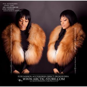 women's fur collar - gold fox pelerine