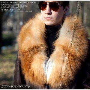 Gold fox collar - men fur pelerine / arctic-store