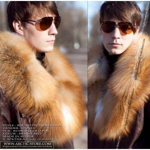 Red fox pelerine - men fur colar / arctic-store
