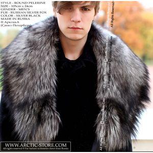 silver fox collar - men fur pelerine / arctic-store