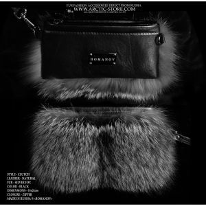 silver fox purse - luxury fox clutch