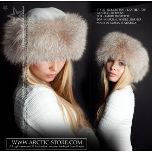 Roller fur hat - amber frost fox / arctic-store