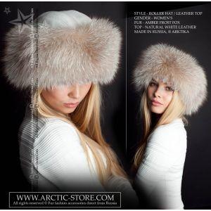 Roller fur hat - amber frost fox / arctic-store