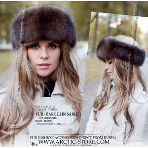 Sable fur hat - barguzin roller hat - queen luxury hat