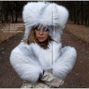 Lynx fur winter hat for women