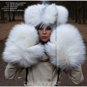 Fur set in Arctic Marble fox