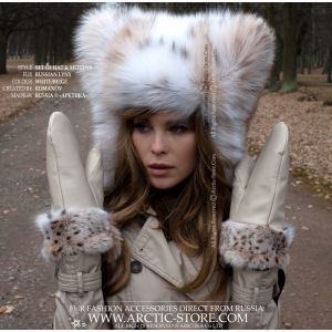 lynx hat and mitts