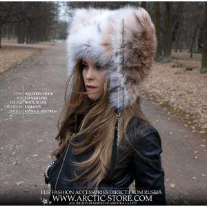 Russian lynx fur hat