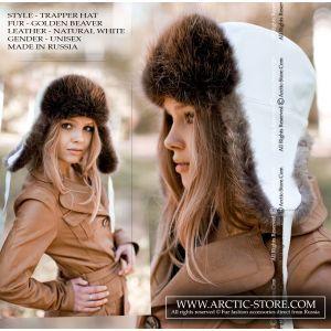 Beaver fur hat - chapka castor / arctic-store
