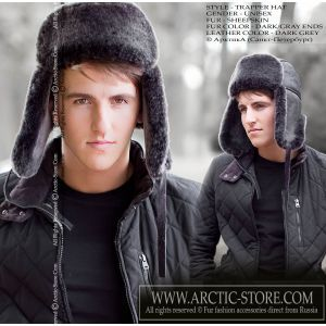 Sheepskin hat - men's fur hat / arctic-store