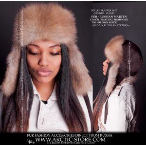 Trapper marten hat - ushanka fur woman / arctic-store