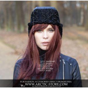 Trapper Astrakhan hat -  Karakul fur ushanka / arctic-store