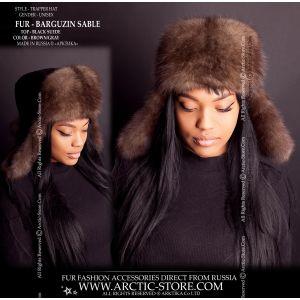 Sable fur hat - barguzin ushanka - trapper hat