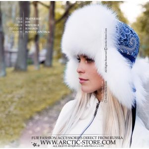 Ambassador fur hat - Sapphire blue mink cap - arctic-store