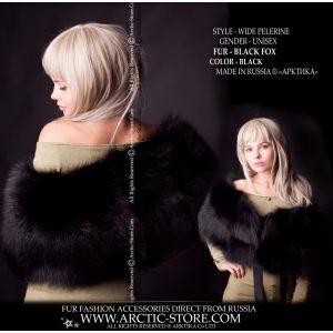 Black fur wrap - women's fur wrap - arktika