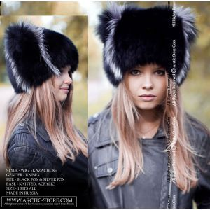 Fur wig - black fox / arctic-store