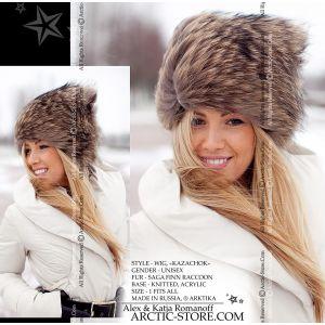 Raccoon fur wig - cossack tanuki hat / arctic-store