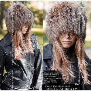 Raccoon fur hat - coon wig - arctic-store