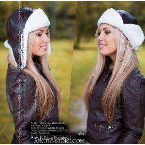 bomber fur hat - white beaver / arctic-store