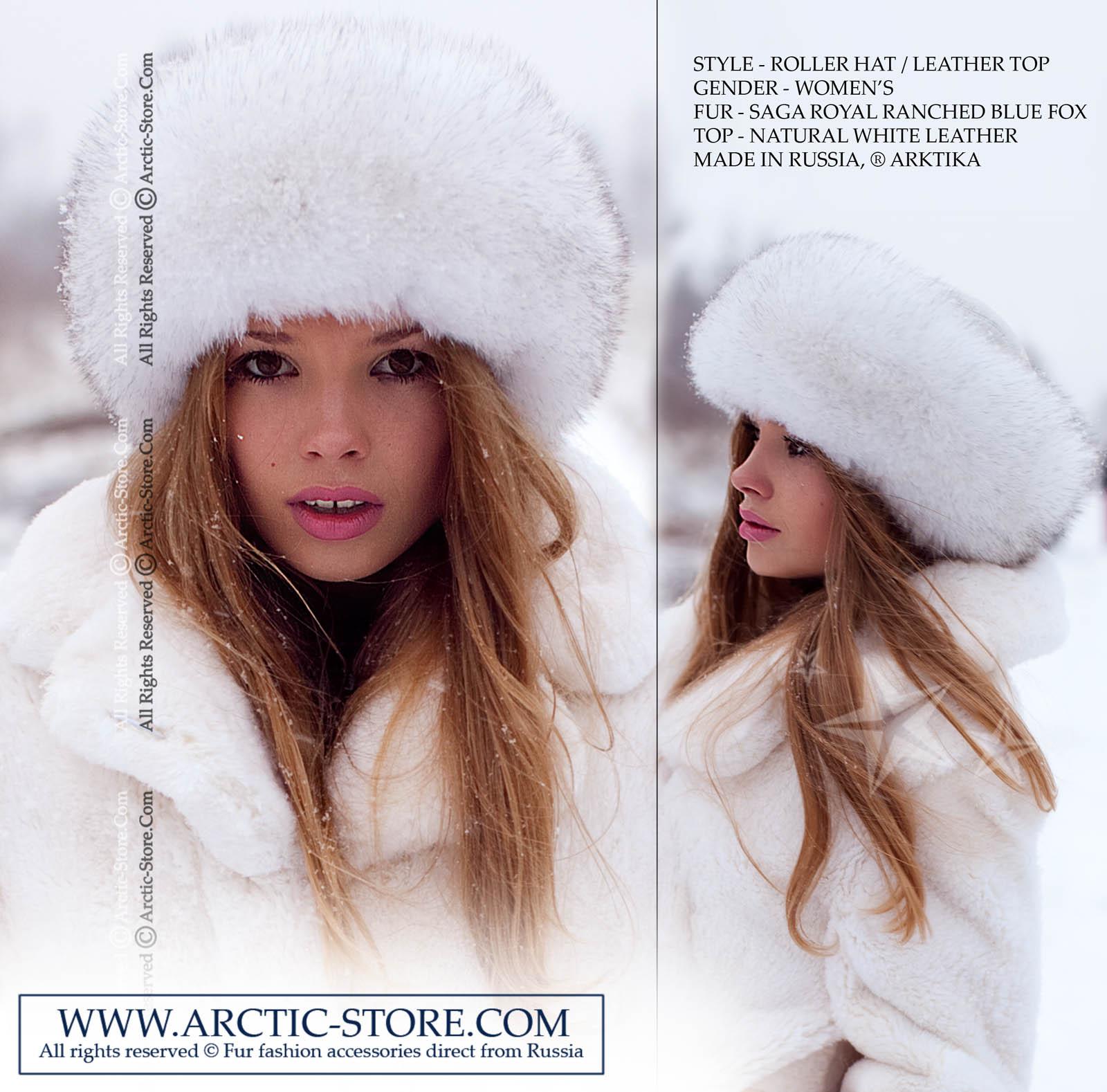 d6184ad7d4b8b Roller fur hat - blue fox   arctic-store