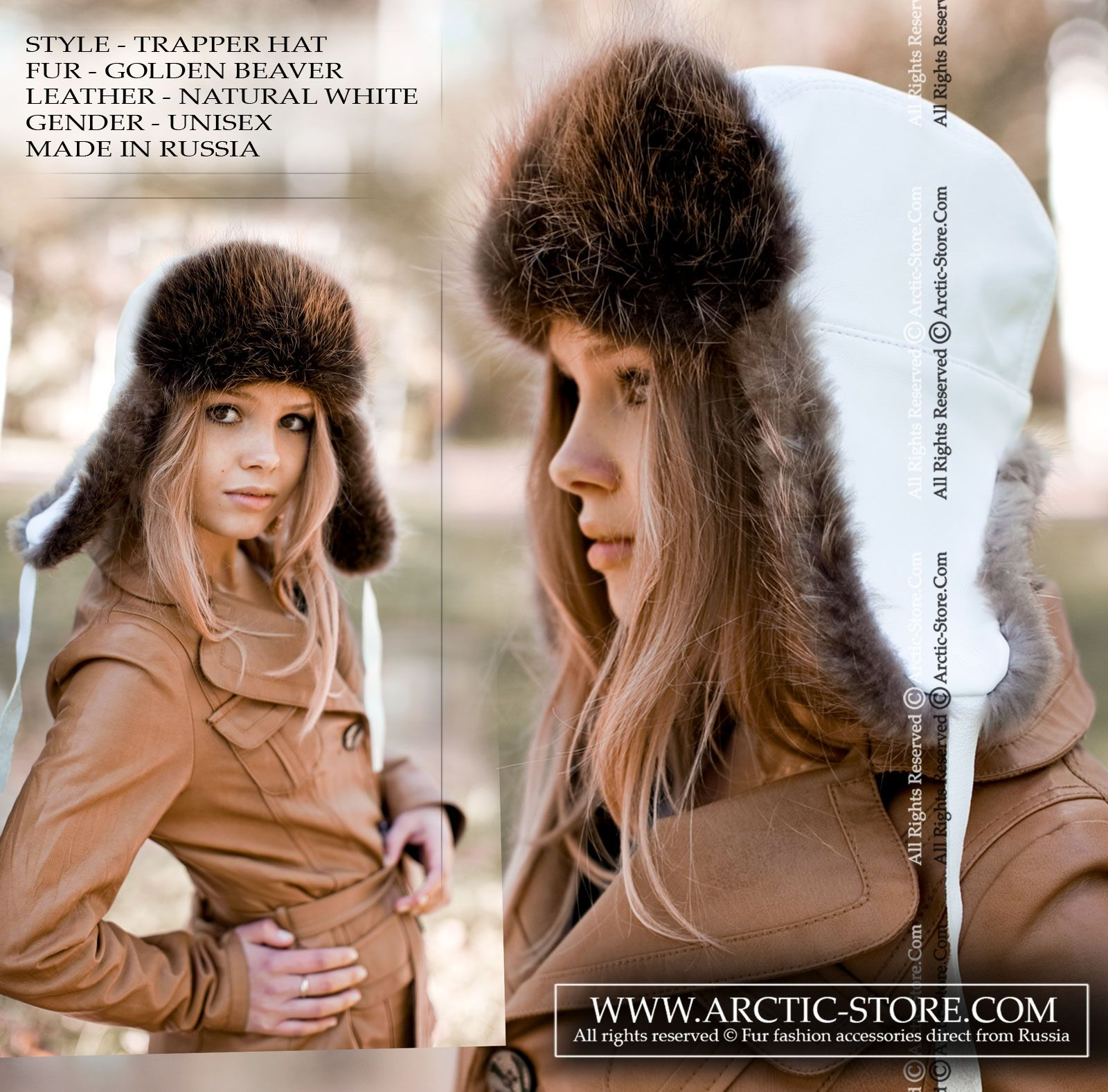 Trapper fur hat - canadian beaver   arctic-store 69500218bf70